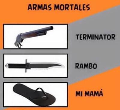 Diferentes tipos de armas mortales