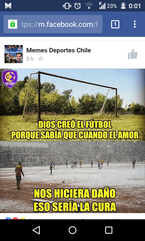 Dios creo el futbol para las penas de amor