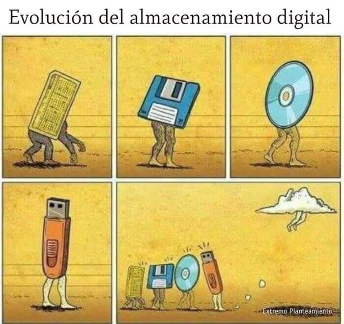 Evolucion del almacenamiento digital