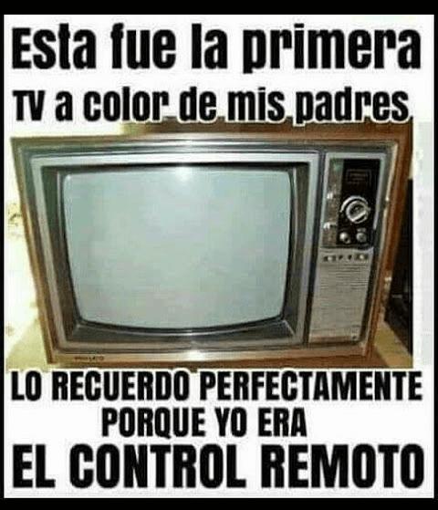Fue la primera TV a color de mis padres