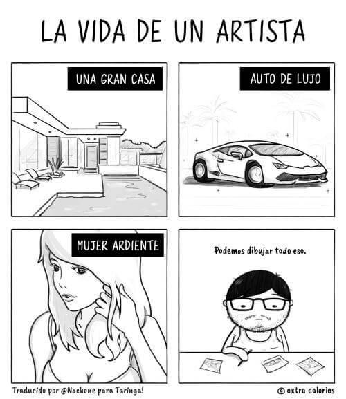 La hermosa vida de un artista