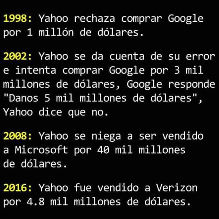 Las malas desiciones de Yahoo