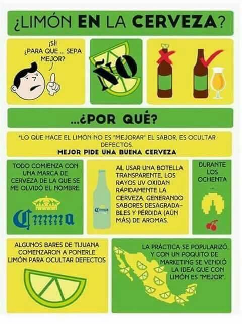 Limon en la cerveza