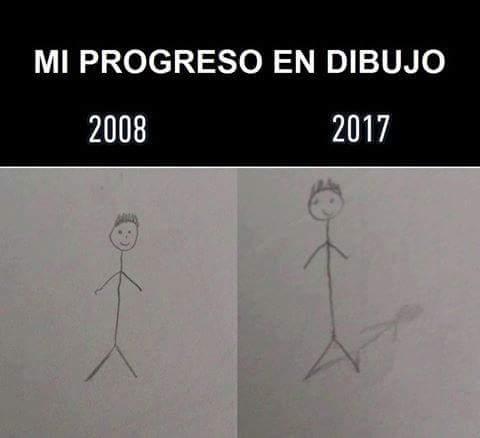 Nuestro progreso en el dibujo