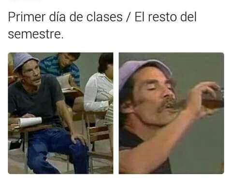 Primer dia de clases vs el resto del año