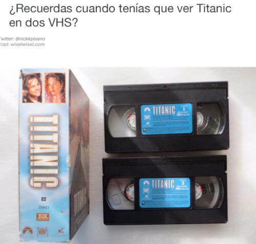 Antes para ver titanic