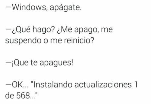 Cosas que nunca entedera Windows