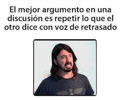 El mejor argumento en una discusion
