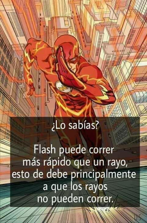 Flash puede correr mas rapido que un rayo