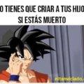 Goku es un genio