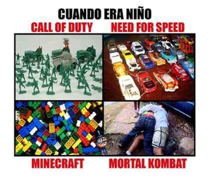 Los juegos de cuando era niño