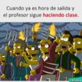 Cuando el profesor sigue haciendo clases