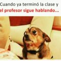 Cuando la clase termina