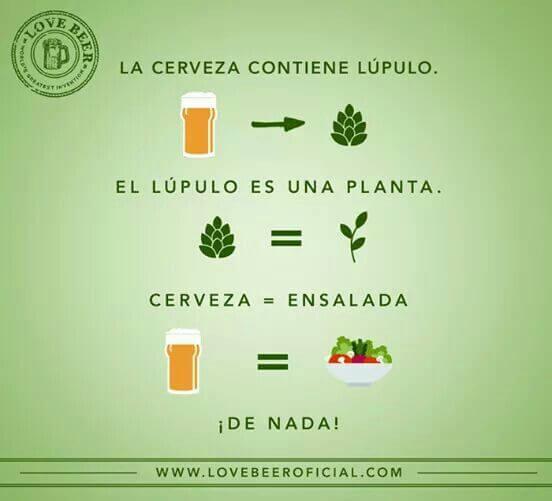 La cerveza es una ensalada