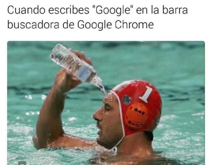 Cuando escribes google