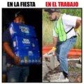 Fiesta vs trabajo