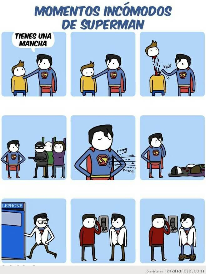 Momento incomodos de superman