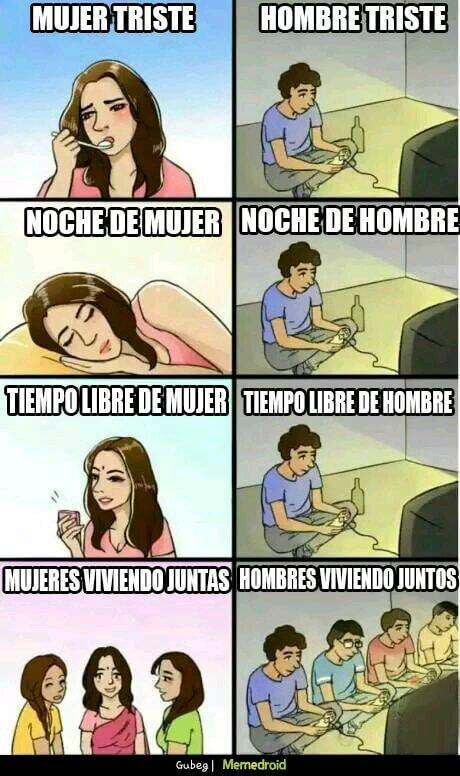 Mujer vs hombre