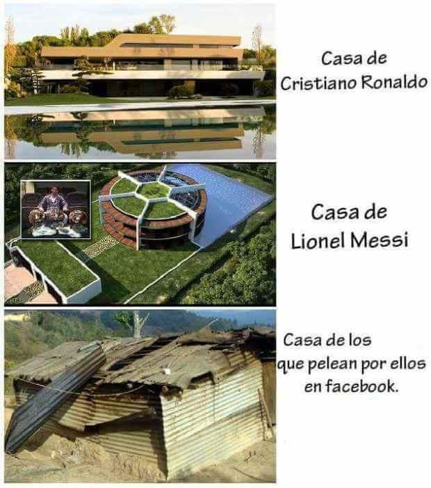 Casa de cristiano vs casa de messi vs sus fan ticos - Fotos de la casa de cristiano ronaldo ...