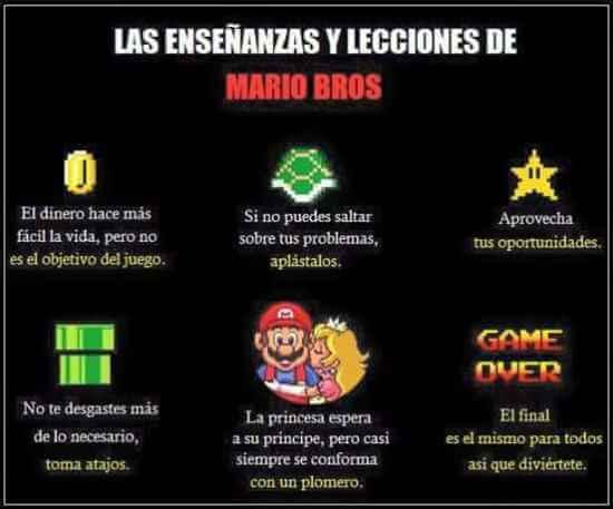 Enseñanzas de Mario Bross
