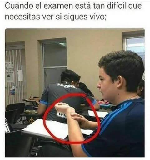 Cuando el exame esta dificil