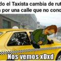 Cuando el taxista cambia de ruta