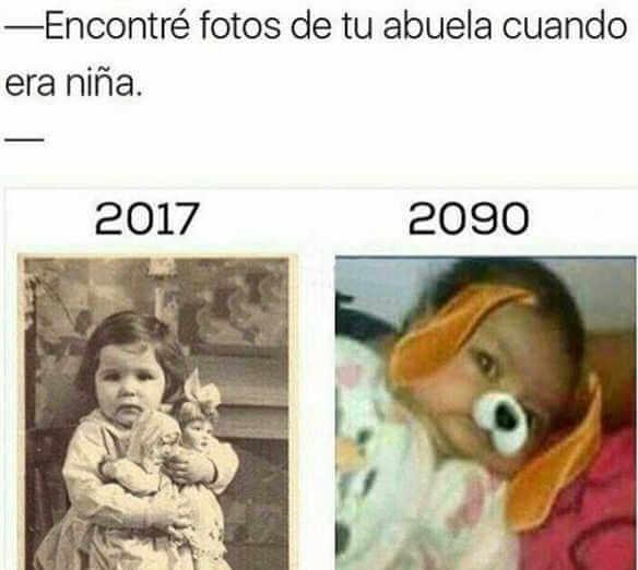 Fotos de la abuela antes vs ahora