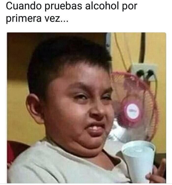 Cuando pruebas alcohol por primera vez