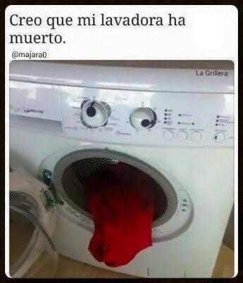 Nuestra lavadora ha muerto