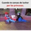 Cuando te cansas de luchar por las princesas