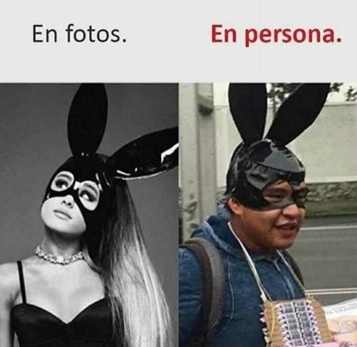 En fotos vs en persona