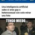Inteligencia artificial revela si eres gay o no
