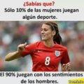 Solo 10% de las mujeres juegan lgun deporte