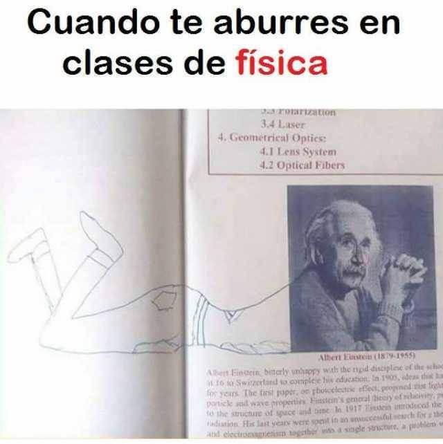 Aburrido en clases de fisica
