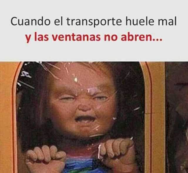 Cuando las ventanas no abren en el transporte