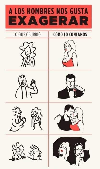 A los hombres les gusta exagerar