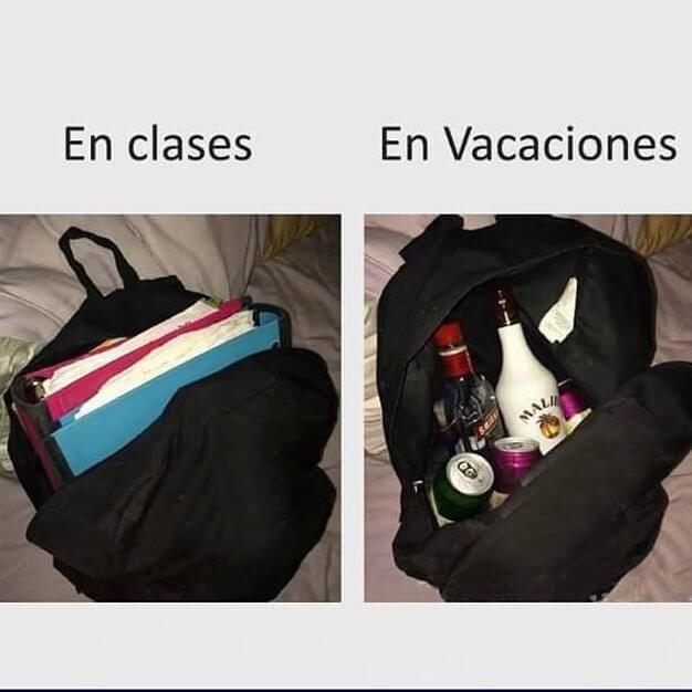 Clases vs vacaciones