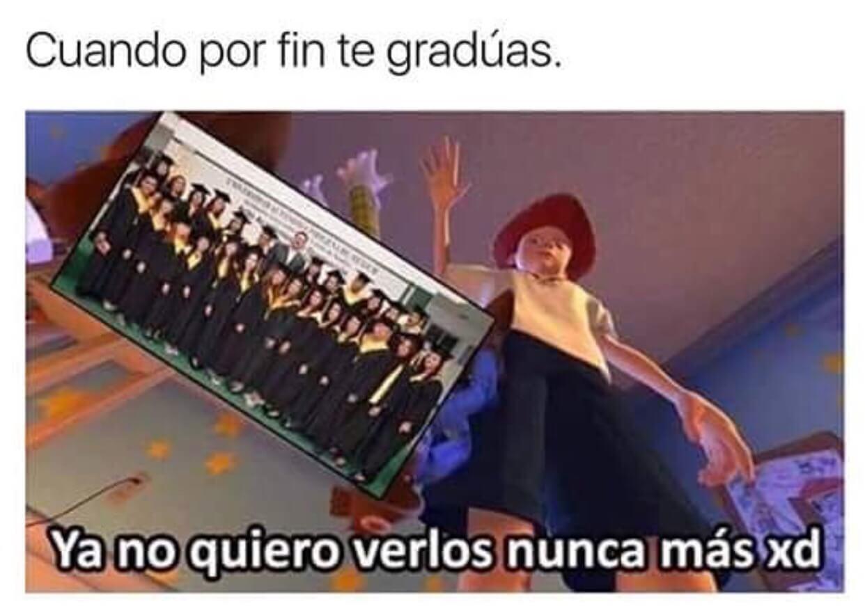 Cuando finalmente te graduas
