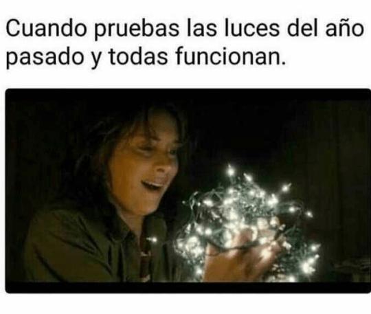 Cuando las luces de navidad aun funcionan