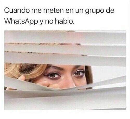 Cuando me incluyen a un grupo de WhatsApp