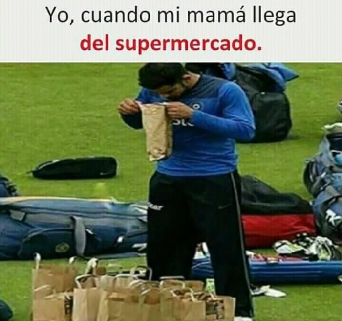 Cuando mi madre llega del supermercado