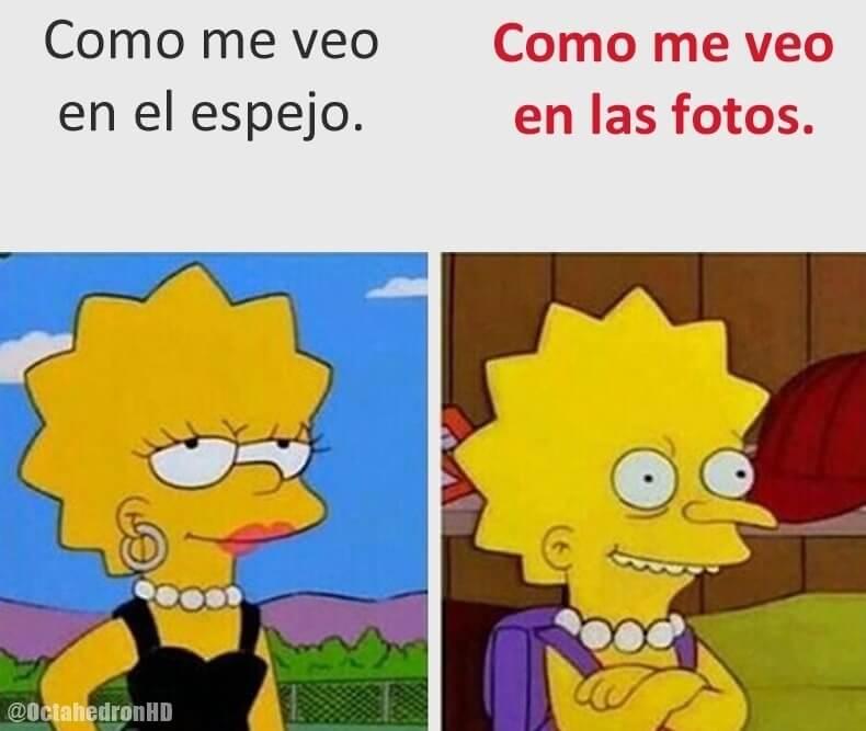 En el espejo vs las fotos