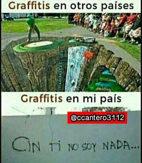Graffitis en otros paises vs mi pais