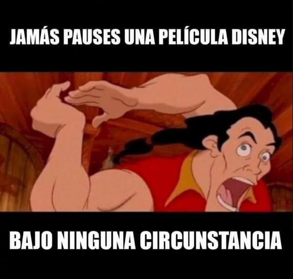 Jamas pauses una pelicula de Disney
