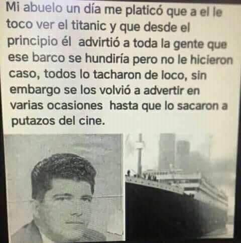 Mi abuelo vio el Titanic