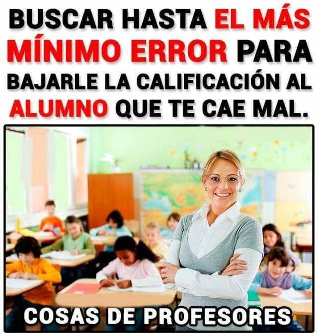 Cosas de profesores