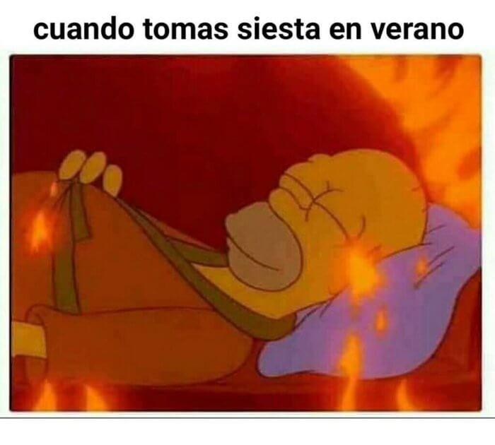 Cuando tomas siesta en verano