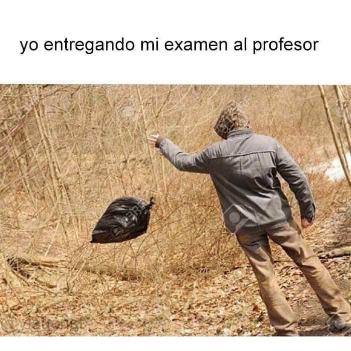Entrgando mi examen