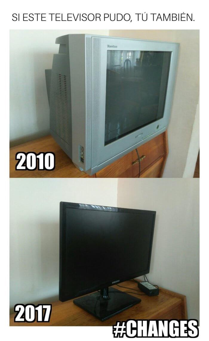 Si el televisor pudo