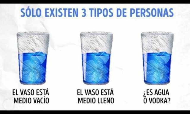 Solo existen tres tipos de persona